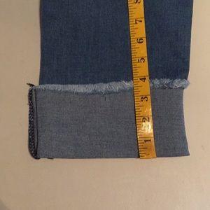 Pants - Plus Size Dark Wash Distressed Jeans